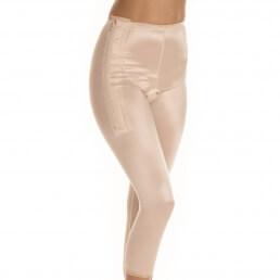 Female, Pants, Below knee, Waist, Normal support, side Zip, Open crotch